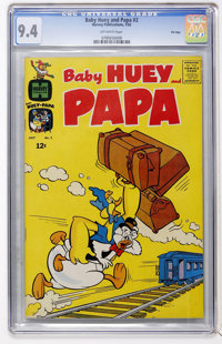 Baby Huey and Papa #2 - File Copy (Harvey, 1962) CGC NM 9.4 Off-white pages