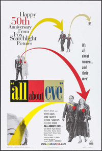 "All About Eve (20th Century Fox, R-2000). 50th Anniversary One Sheet (26.75"" X 39.5"") DS. Academy Award Winner..."