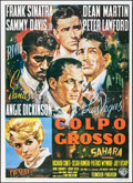 "Movie Posters:Crime, Ocean's 11 (Warner Brothers, R-1970s). Italian 2 - Fogli (39.25"" X55""). Crime.. ..."