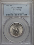 Statehood Quarters, 2007-D 25C Wyoming MS68 PCGS. PCGS Population: (9/0). NGC Census:(3/0)....