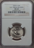 Statehood Quarters, 2009-P 25C U.S. Virgin Islands MS68 NGC. NGC Census: (6/0). PCGSPopulation: (3/0). ...