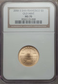 Modern Issues, 2006-S $5 San Francisco Old Mint MS70 NGC. NGC Census: (1880). PCGS Population: (369). ...