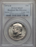 Kennedy Half Dollars, 1974-D 50C Doubled Die Obverse MS65 PCGS. PCGS Population: (86/8). ...