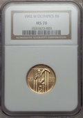 Modern Issues, 1992-W $5 Olympic Gold Five Dollar PR70 NGC. NGC Census: (2570). PCGS Population: (297)....