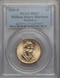 Presidential Dollars, 2009-D $1 William H. Harrison, Position A MS67 PCGS. PCGS Population: (1/0). NGC Census: (2/0)....