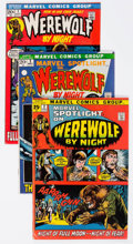 Bronze Age (1970-1979):Horror, Werewolf by Night Related Group of 6 (Marvel, 1971-73) Condition: Average VG.... (Total: 6 Comic Books)