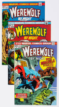 Bronze Age (1970-1979):Horror, Werewolf by Night Group of 38 (Marvel, 1973-77) Condition: AverageFN/VF.... (Total: 38 Comic Books)