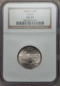 Statehood Quarters, 2004-D 25C Iowa MS69 NGC. NGC Census: (12/0). PCGS Population:(10/0). ...