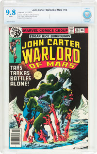 John Carter, Warlord of Mars #18 (Marvel, 1978) CBCS NM/MT 9.8 White pages