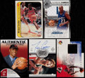 Basketball Cards:Lots, 1986-2003 Multi-Brand Basketball Collection (5) With 1986 FleerSticker Jordan and Two Jordan Relic Cards....