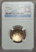 Modern Issues, 2014-W $5 Baseball Hall of Fame Gold Five Dollar, Early Release MS70 NGC. NGC Census: (0). PCGS Population: (431)....