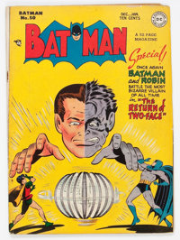 Batman #50 (DC, 1948) Condition: VG-