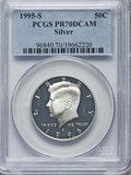 Proof Kennedy Half Dollars, 1995-S 50C Silver PR70 Deep Cameo PCGS. PCGS Population: (628). NGC Census: (0)....