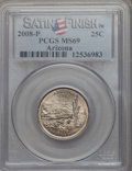 Statehood Quarters, 2008-P 25C Arizona Satin Finish MS69 PCGS. PCGS Population: (68/0). NGC Census: (16/0). ...