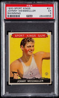 Golf Cards:General, 1933 Sport Kings Johnny Weissmuller #21 PSA EX 5....