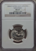 Statehood Quarters, 2004-D 25C Wisconsin, Extra Leaf Low MS67 NGC. NGC Census: (1/0).PCGS Population: (4/0)....