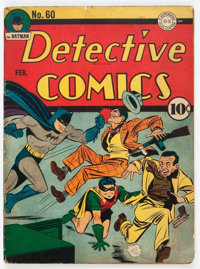 Detective Comics #60 (DC, 1942) Condition: VG-