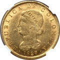Colombia, Colombia: Republic gold 8 Escudos 1829-RS AU55 NGC,...