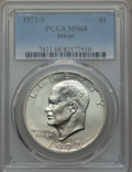 Eisenhower Dollars, 1972-S $1 Silver MS68 PCGS. PCGS Population: (1850/24). NGC Census: (449/5). Mintage 2,193,056....