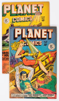 Golden Age (1938-1955):Science Fiction, Planet Comics #58 and 60 Group (Fiction House, 1949) Condition: Average VG+.... (Total: 2 Comic Books)