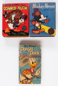 Big Little Book:Miscellaneous, Donald Duck and Mickey Mouse Big Little Book Group of 3 (Whitman,1934-49).... (Total: 3 Comic Books)