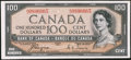 Canadian Currency: , BC-35a $100 1954 Devils' Face. ...