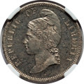 Liberia, Liberia: Republic copper-nickel Pattern 25 Cents 1889-E PR64NGC,...