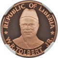Liberia, Liberia: Republic copper Proof 100 Dollars and 400 Dollars 1976PR69 Ultra Cameo Red NGC,... (Total: 2 coins)