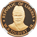 "Liberia, Liberia: Republic gold Proof ""Tolbert Inauguration"" 200 Dollars1976 PR66 Ultra Cameo NGC,..."