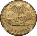 Chile, Chile: Republic gold 8 Escudos 1836 So-IJ XF Details (Surfacehairlines) NGC,...