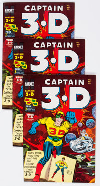 Captain 3-D #1 File Copies Group of 60 (Harvey, 1953) Condition: Average VF/NM.... (Total: 60 Comic Books)