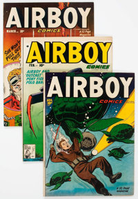 Airboy Comics V8#1-12 Group (Hillman Fall, 1951-52) Condition: Average FN.... (Total: 12 Comic Books)