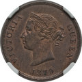 Cyprus:British Colony, Cyprus: British Colony. Victoria 1/2 Piastre 1879 MS63 Red and Brown NGC,...