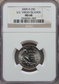 Statehood Quarters, 2009-D 25C U.S Virgin Islands MS68 NGC. NGC Census: (11/0). PCGS Population: (1/0). ...