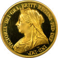 Great Britain, Great Britain: Victoria gold Proof 5 Pounds 1893 PR67 ★ Ultra CameoNGC,...