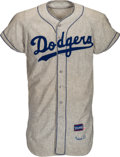 "Baseball Collectibles:Uniforms, 1957 Harold ""Pee Wee"" Reese Game Worn Brooklyn Dodgers Jersey, MEARS A7...."