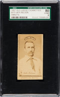 "Baseball Cards:Singles (Pre-1930), 1887 N172 Old Judge (Spotted Tie) Jack ""Candy"" Nelson SGC 80 EX/NM6...."