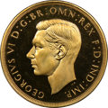 Great Britain, Great Britain: George VI gold Proof 5 Pounds 1937 PR66 CameoNGC,...