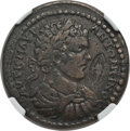 Ancients:Roman Provincial , Ancients: LYDIA. Hypaepa. Caracalla (AD 198-217). Æ 30mm. NGC VF,countermark....