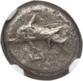 Ancients:Greek, Ancients: LYCIAN DYNASTS. Unknown dynast. Ca. 520-440 BC. ARthird-stater. NGC VF, scuff....