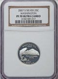 2007-S 25C Five-Piece Silver Statehood Quarter Set PR70 Ultra Cameo NGC. This set includes the following: Montana; Washi...