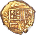 Colombia, Colombia: Philip IV gold 2 Escudos ND (1628-1665) AU58 NGC,...