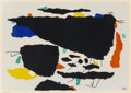 Fine Art - Work on Paper:Print, Willi Baumeister (German, 1889-1955). Mo II, 1954.Screenprint with acrylic on paper. 15 x 21-1/2 inches (38.1 x 54.6cm...