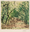 Fine Art - Work on Paper:Print, Forrest Moses (American, b. 1934). Untitled. Monoprint on wove paper. 15-1/2 x 16 inches (39.4 x 40.6 cm) (image). 30 x ...
