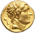 Ancients:Greek, Ancients: GRECO-BACTRIAN KINGDOM. Diodotus I as Satrap (ca. 255-240BC). AV stater (8.47 gm). Good VF, repaired....
