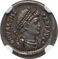 Ancients:Roman Imperial, Ancients: Valens (AD 364-378). AR siliqua (2.20 gm). NGC AU ★ 5/5 - 5/5....