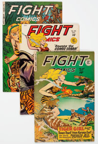 Fight Comics Group of 15 (Fiction House, 1949-54) Condition: Average FN-.... (Total: 15 Comic Books)