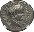Ancients:Roman Provincial , Ancients: JUDAEA. Caesarea Maritima. Caracalla (AD 198-217). BItetradrachm. NGC XF. ...