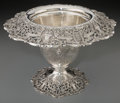 Silver Holloware, American, A Graff, Washbourne & Dunn Reticulated Silver Vase, New York,New York, mid-20th century. Marks: (diamond-lozenge-diamond),...