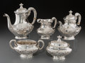 Silver Holloware, American:Tea Sets, A Five-Piece Gorham Buttercup Pattern Silver Tea and CoffeeService, Providence, Rhode Island, designed 1950. Ma... (Total: 5Items)